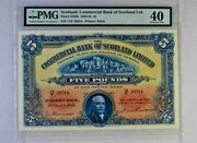 War Time Rare Ef Pmg 40 1942 5 Pounds Commercial Bank Of Scotland Ltd P-s328b