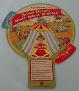1954 Howdy Doody Comic Circus Animals Match Up Cardboard Toy Poll Parrot Shoes