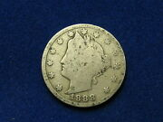 Beautiful U.s. Semi Key Date 1888 Liberty V Nickel In Collectible Condition 6s