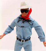 Lone Ranger No Figure Included Just Custom Rubber Hat And Belt Only For Gabriel