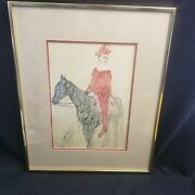Pablo Picasso 1905 Harlequin On Horseback Jester Lithograph Print Nygs