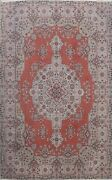 Antique Medallion Anatolian Turkish Oriental Area Rug Wool Hand-knotted 7x9 Ft