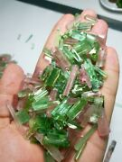 225_gram Beautiful Green Pink Matrix Tourmaline Crystals Best For Jewelry Afghan