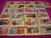 1955 Topps Set Lot 25 Diff Vg Justice Edwards Strong Booth