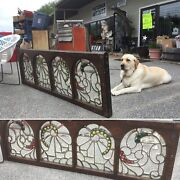 Antique Victorian Beveled Leaded Glass Transom Window Andmdash 1880s Stained Jewels
