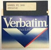 Rare Pc Magazineand039s Dos Games Archive On 5.25 5 1/4 Ms Ds/dd 2s-2d Floppy Disk