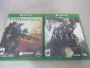 Lot Of 2 Xboxone Video Games Titanfall Ea And Ryse Son Of Rome