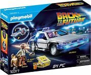 Playmobil Back To The Future Delorean Playset Marty And Doc 70317 Free Shipping