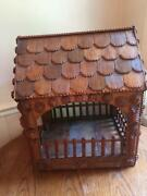 Large 21 Antique Tramp Folk Art Wooden Building Gazebo Pagoda Shrine Handmade