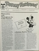 1981 Disney Joins Westinghouse For Cable Channel. Disney Newsreel Mag Wed And Mapo