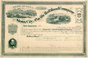 18__ Sioux City And Pacific Rr Stock Certificate