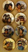 Set Of 8 Collector Plates By Gregory Perillo, Pride Of America Ltd Ed Reduced