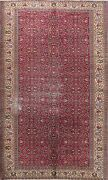Antique Vegetable Dye Anatolian Turkish Oriental Hand-knotted Red Area Rug 6x9