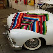 Red Authentic Mexican Track Day Blanket Hot Rod Interior Seat Cover Picnic Car