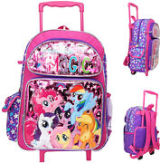 My Little Pony 16 Large Rolling School Backpack Girland039s Book Bag