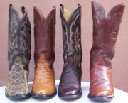 Ladies Black Label Vintage And Exotic Skins Cowgirl Boots Size 6 1/2 3e