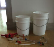 Beer Making Home Brewing Equipment 2 Buckets, Bottle Capper, Siphoning Kit, Etc