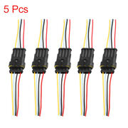 5pcs 4 Pins Way Car Waterproof Electrical Wire Cable Automotive Connector