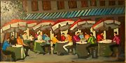 Outdoor Cafe By Yvonne Mora - Original Oil Painting