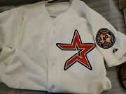 2002 Red Star With 40 Year Patch Game Day Jersey Houston Astros Size 44