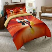 3d Happy Mickey Minnie Mouse Bedding Set Duvet Cover Comforter Cover Pillow Case