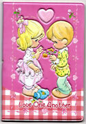 3.5x5 Precious Moments Passport Cover Holder Travel Love One Another Pink Heart