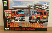 Jigsaw Puzzle Giant Fire Trucks 92 Pièces 2 Model Of Engines Firefighters