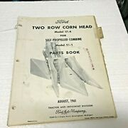 1961 Ford Two Row Corn Head Model 17-4 Self Propelled Combine Parts Book 3