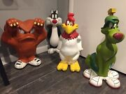 5 Large Warner Brothers Resin Statues