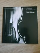 Sothebyand039s Musical Instruments New York Oct. 14 1982 Auction Catalog