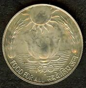 India 1970b Silver 10 Rupees Appears Gem++ Uncirculated Km186