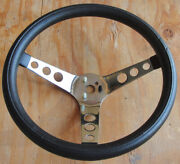 Vintage 13 Hot Rod / Rally / Competition / Gt Muscle Car 3 Spoke Steering Wheel