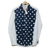 Msgm Men Shirts Blue White Cotton Size 41 Made In Italy - Mint Condition