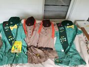 Vintage Brownie/girl Scout/leader Lot - Uniforms, Sashes/patches, Belts, Books