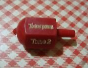 Vintage Red Put And Take Spinning Top Gambling Game Argentina 60s