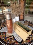 Stainless Steel Genuine Leather Vacuum Coffee Bottle Thermos Tommy Bahama New