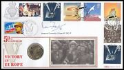 Ian Fraser Vc Signed 1995 Victory In Europe Peace Dove £2 Coin Benham Cover