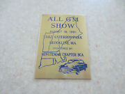 1991 All Gm Show Minuteman Chapter Buick Club Of America Car Dash Badge -- ---