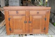 Antique 19th Century Pine Dry Sink2 Drawers Over 2 Doors
