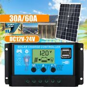 Pwm Solar Panel Regulator Charge Controller Auto Focus Tracking 12v-24v 30-60a