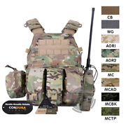Emerson Lbt-6094a Tactical Vest Plate Carrier Body Armor With Mag Radio Pouch