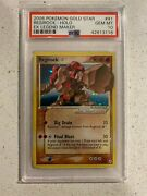 Regirock Gold Star - 91/92 - Ultra Rare Ex Legend Maker Psa 10 Mint