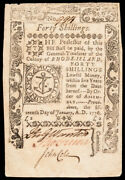 Colonial Currency Rhode Island. January 15, 1776. Forty Shillings, Pass-co Ef-45