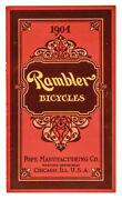 1904 Vintage Rambler Bicycles - Advertising Catalog From Chicago Illinois