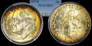 1947-d Roosevelt Dime Graded Ms67 By Pcgs ...... Beautiful Color