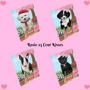 Rosie 25 Cent Kisses Dog Cat Tempered Glass Cutting Board Kitchen 12x8 In