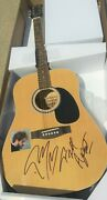 Post Malone I Fall Apart Rapper Signed Acoustic Guitar Proof Hip Hop Star