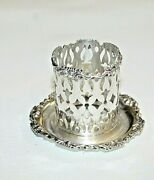 Antique Mauser Manufacturing Co. Sterling Silver 3987 Toothpick Holder No Glass