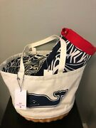 Vineyard Vines For Target Whale Picnic Tote Bag And Outdoor Blanket Rough Seas