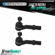 Pair Front Outer Tie Rod End Link For 2007-2013 Chevy Gmc Silverado Sierra 1500